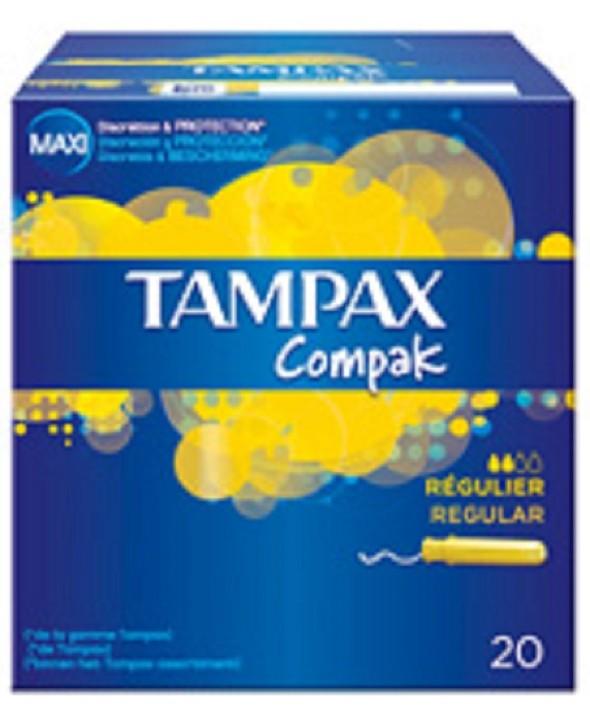 TAMPON TAMPAX COMPAK REGULAR 20 UNIDADES