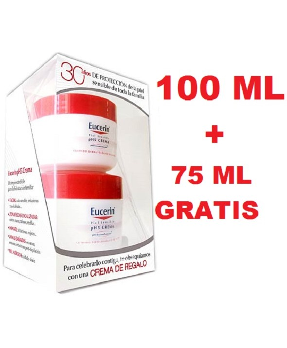 EUCERIN CREMA PIEL SENSIBLE PH-5 100 ML REGALO CREMA 75 ML