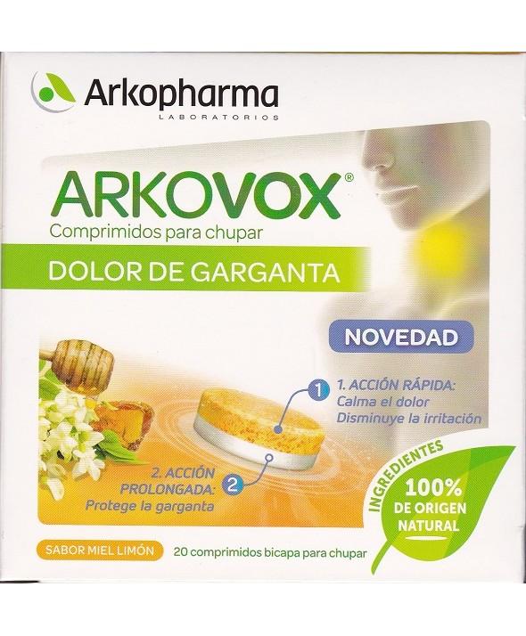 ARKOVOX DOLOR DE GARGANTA 20 COMPRIMIDOS PARA CHUPAR BICAPA