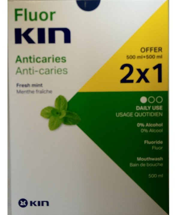 FLUOR KIN ANTICARIES COLUTORIO DIARIO 2 x 500 ML