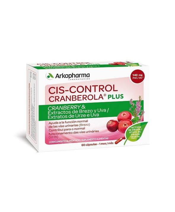 CRANBEROLA CISCONTROL PLUS CON BREZO Y UVA 60 CAPS