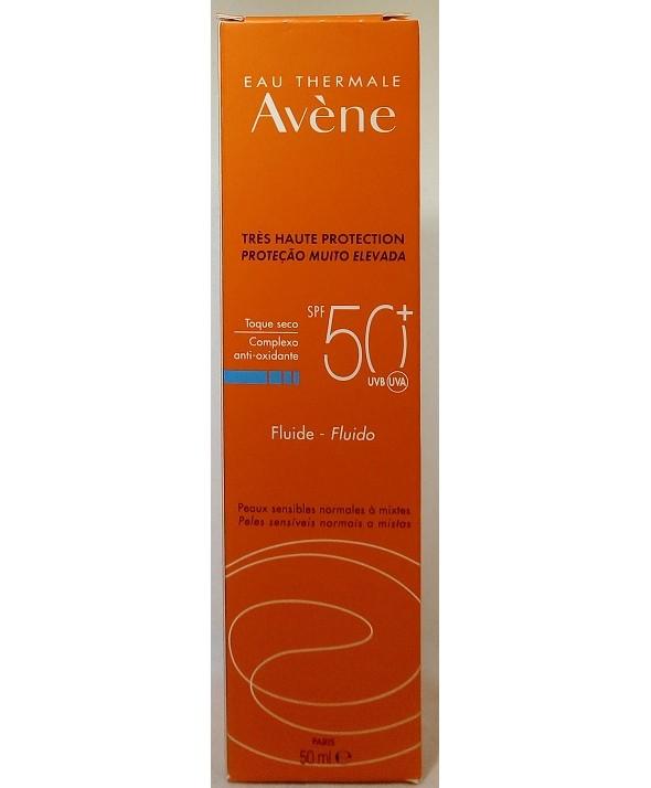 AVENE SPF 50+ FLUIDO MUY ALTA PROTEC SIN PERFUME 50 ML