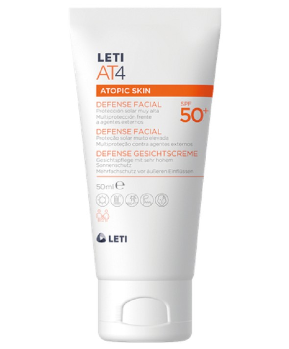LETI AT4 SPF 50 + DEFENSE FACIAL 50 ML
