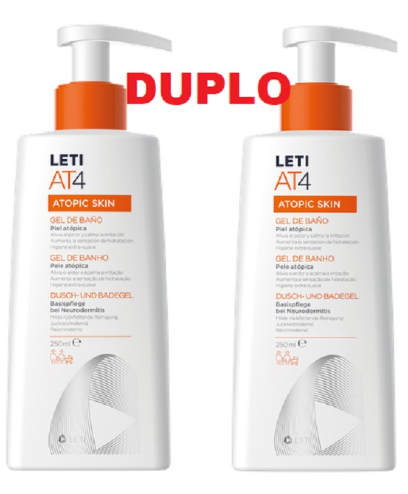 DUPLO LETI AT-4 GEL DE BAÑO 2 X 250 ML