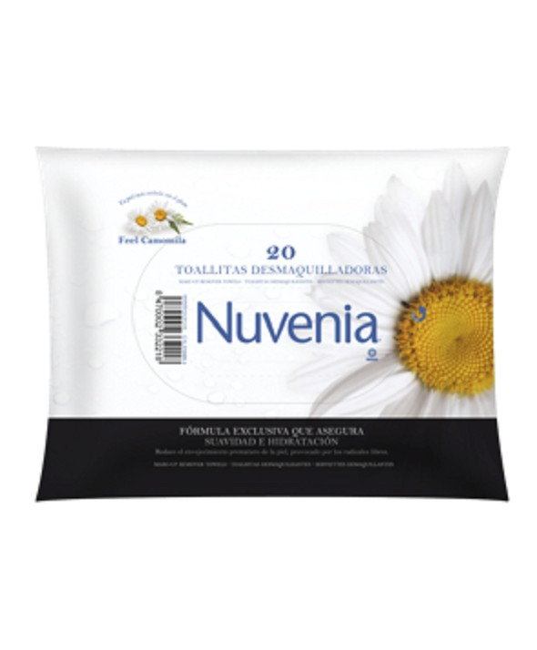 NUVENIA TOALLITAS DESMAQUILLANTES 20 UNIDADES