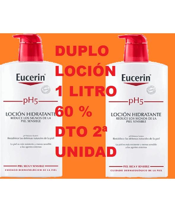 DUPLO PH5 EUCERIN 60 % DTO 2ª UNIDAD 2 LITROS