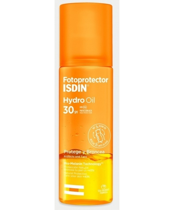 FOTOPROTECTOR ISDIN HYDRO OIL SPF 30 SPRAY 200 ML
