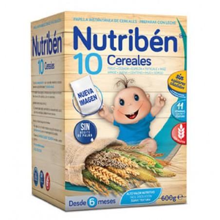NUTRIBEN PAPILLA 10 CEREALES 600 G