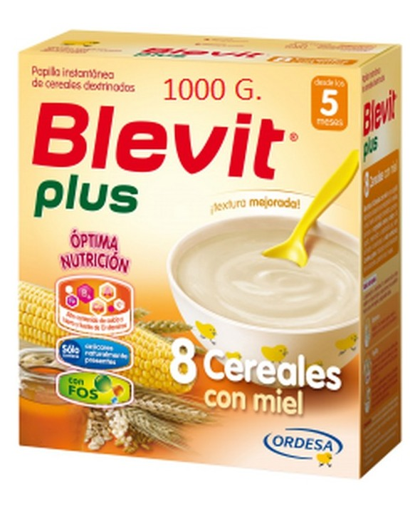 BLEVIT PLUS 8 CEREALES CON MIEL 1000G FORMATO AHORRO
