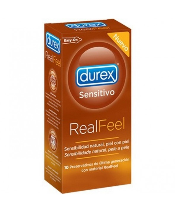 DUREX REAL FEEL PRESERVATIVO SIN LATEX 10 UNIDADES