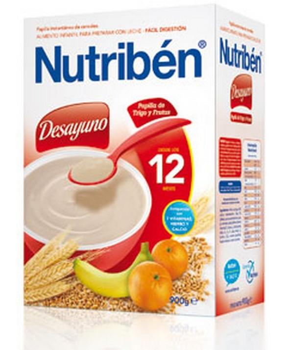 NUTRIBEN DESAYUNO PAPILLA DE TRIGO CON FRUTA 900