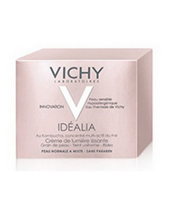 IDEALIA CREMA ILUMINADORA ALISADORA VICHY PIEL NORMAL Y MIXTA 50 ML