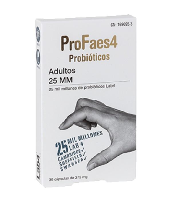 PROFAES 4 PROBIOTICOS ADULTOS 25 MM 30 CAPSULAS