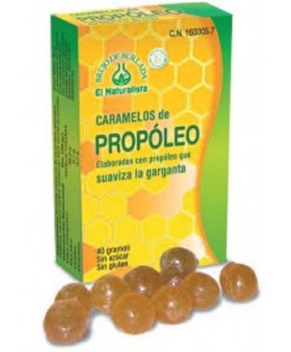 CARAMELOS DE PROPOLEO SIN AZUCAR EL NATURALISTA 26.5 G