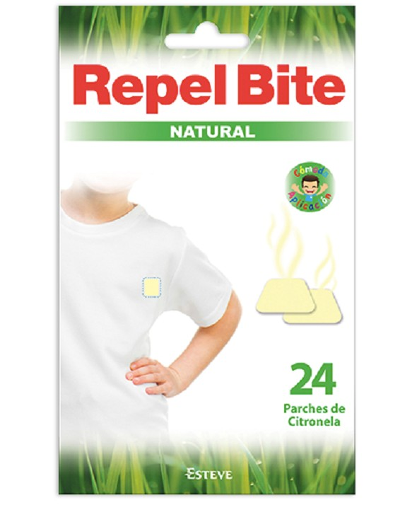 RELBITE NATURAL 24 PARCHES CITRONELLA