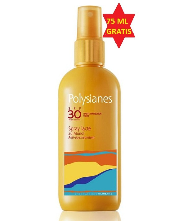 POLYSIANES SPF 30 SPRAY LECHE KLORANE PROTECCION 125 ML+ 75 ML GRATIS
