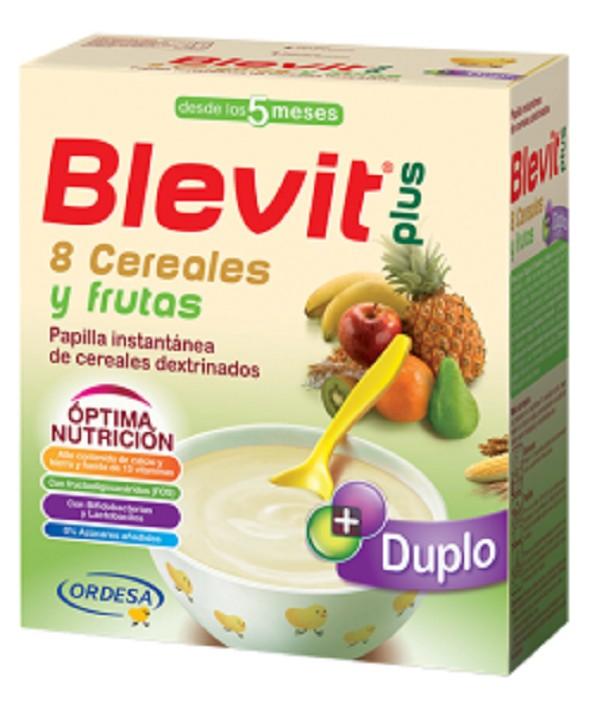 BLEVIT PLUS DUPLO 8 CEREALES Y FRUTAS 600 G