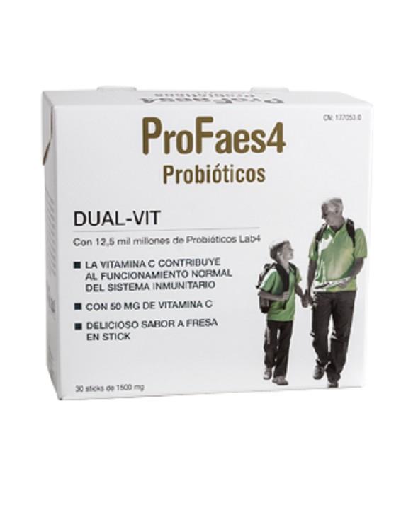 PROFAES4  DUAL VIT 30 SOBRES SABOR FRESA