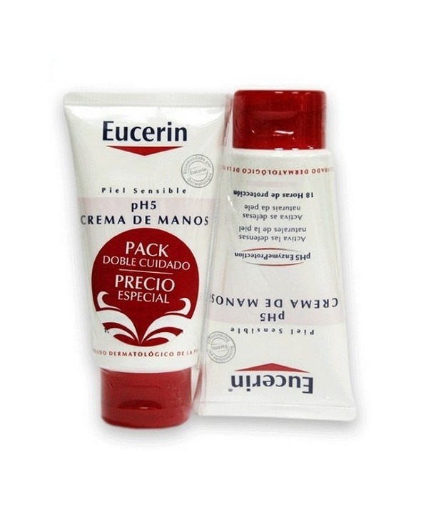 EUCERIN PIEL SENSIBLE PH-5 DUPLO CREMA DE MANOS 75 ML